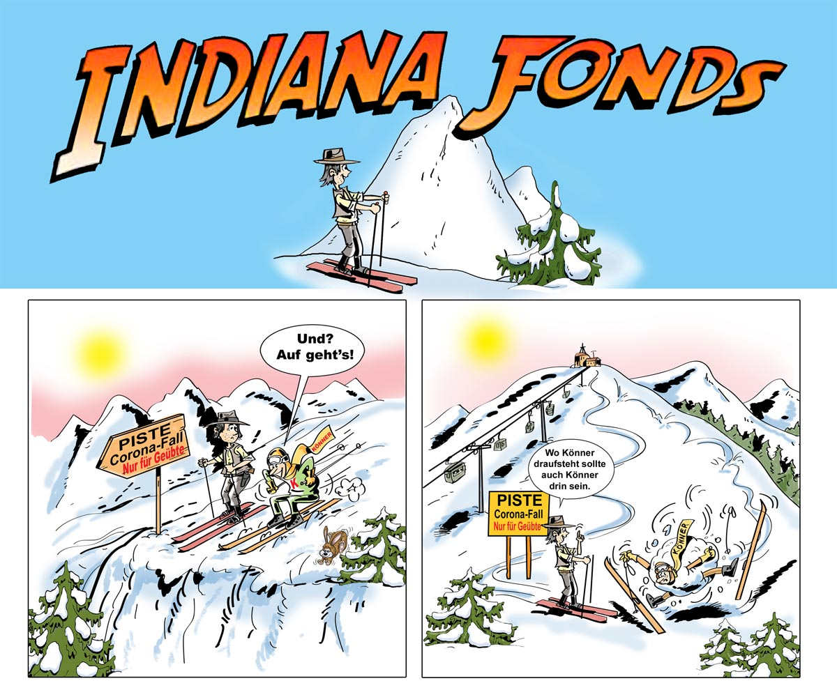 Cartoon Indiana-Fonds Fondskönner